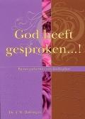 God heeft gesproken...! Book Cover